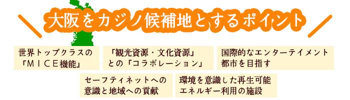 大阪をカジノ候補地とするポイント