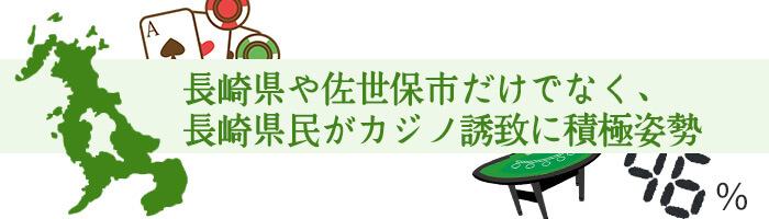 長崎県や佐世保市だけでなく、長崎県民がカジノ誘致に積極姿勢