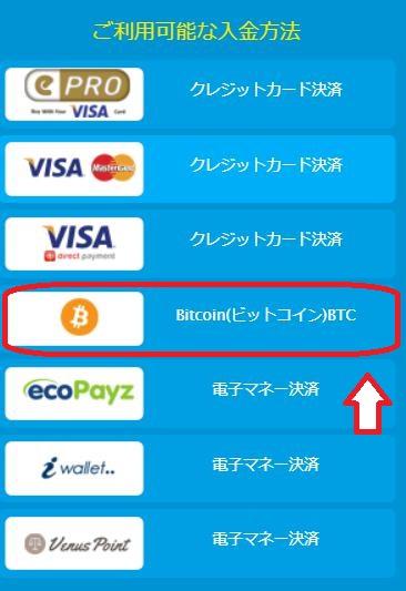 ベラジョンカジノにビットコイン入金する方法と手順