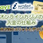 オンラインカジノの入金の仕組み、各入金方法のメリットとデメリット