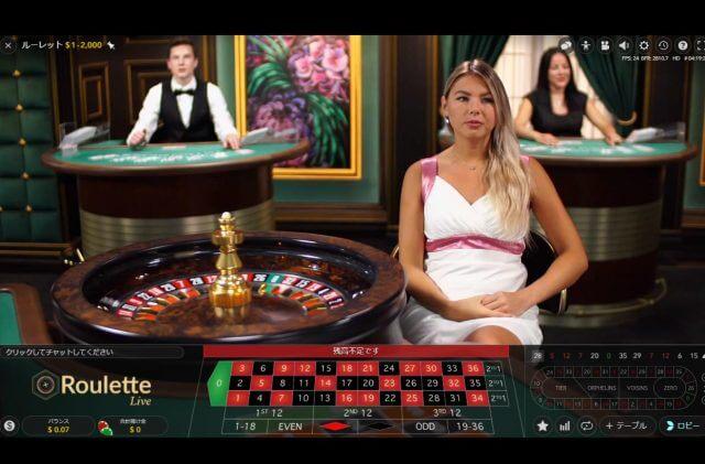 ライブカジノはバカラ、ルーレット、ブラックジャックなどがある