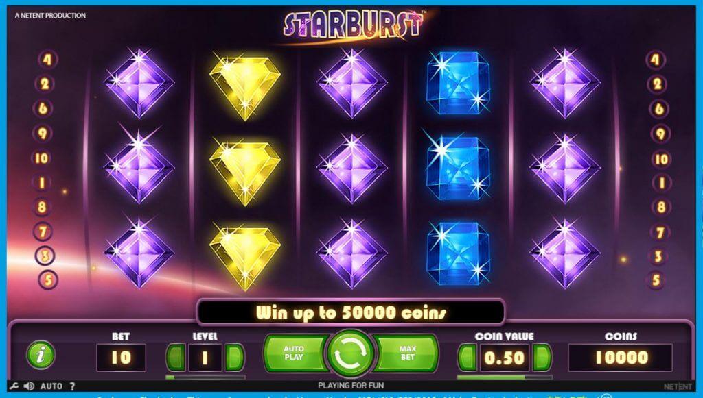 ベラジョンカジノのオススメスロット「starburst」