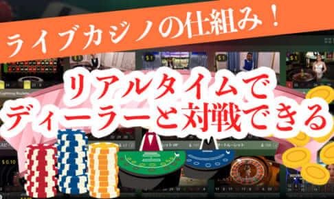 ライブカジノの仕組み!リアルタイムでディーラーと対戦できる