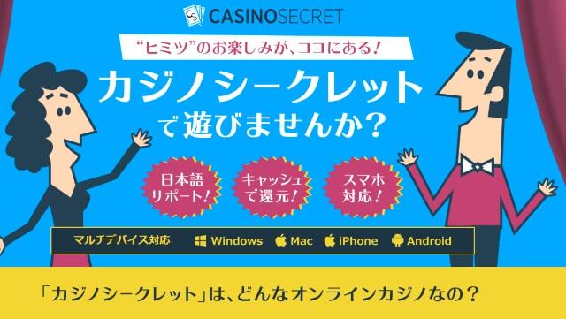 VISAで入金できるオンラインカジノ カジノシークレット