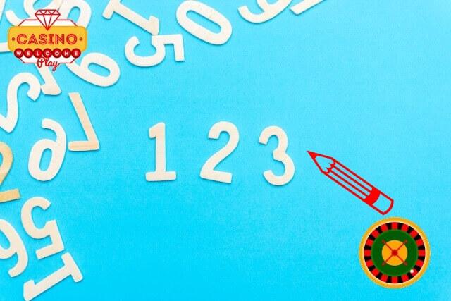 紙に3つの数字を書く