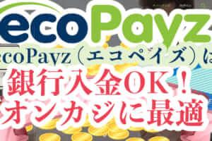ecoPayz(エコペイズ)は銀行入金OK!オンカジに最適