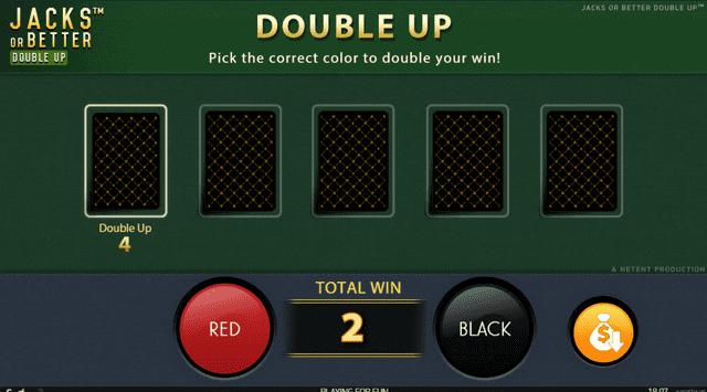 Jacks Or Betterのギャンブルモード