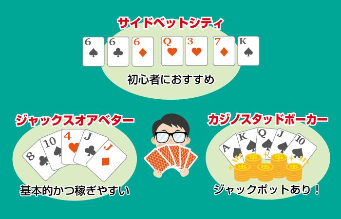 オンラインカジノでプレイできるおすすめのポーカーゲームを紹介