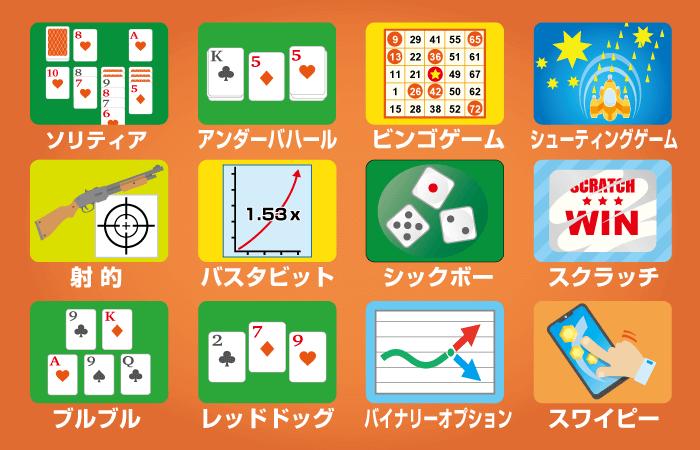 オンラインカジノのマイナーゲームの種類