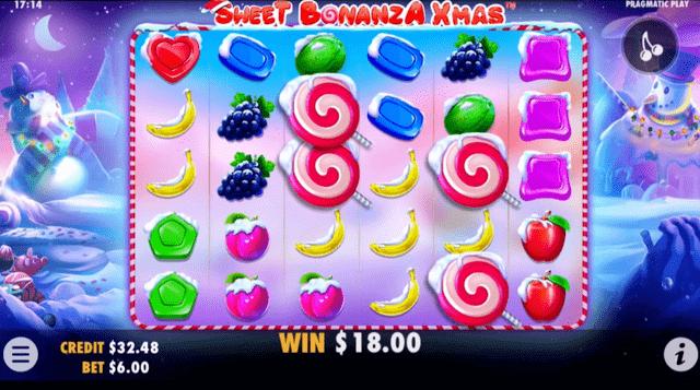 ボンズカジノでプレイできるゲーム『Sweet Bonanza Xmas』