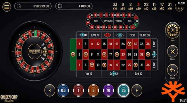 エンパイアカジノでプレイできる『Golden Chip Roulette』