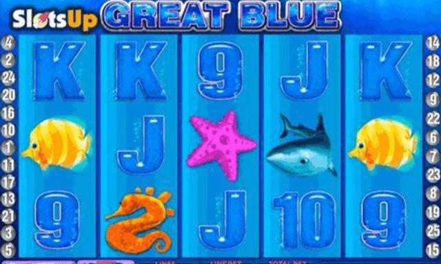 ワイルドジャングルカジノでプレイできるゲーム『Great Blue』