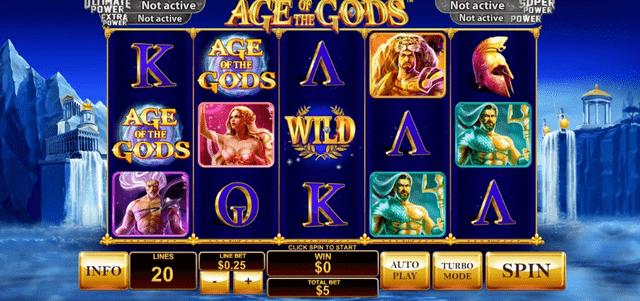 ワイルドジャングルカジノでプレイできるゲーム『Age Of The Gods』シリーズ