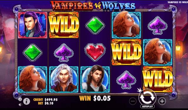 フリースピンの対象スロット『Vampire vs Wolves』
