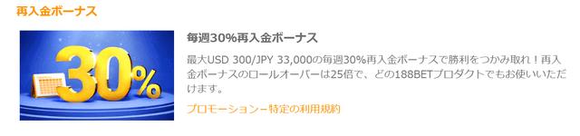 リロードボーナスでおすすめのオンラインカジノ【188bet】