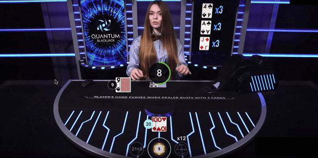 オンラインカジノで儲けやすいおすすめブラックジャックゲーム【Quantum Blackjack】