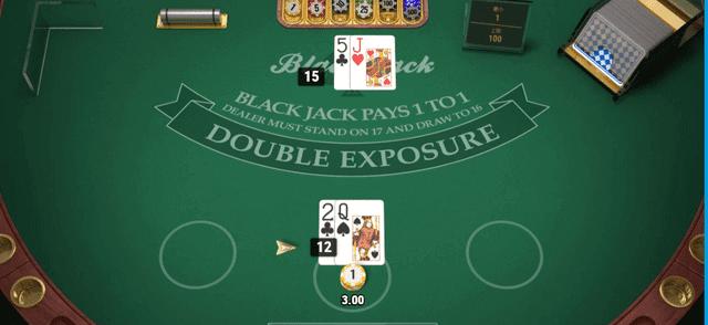 オンラインカジノで儲けやすいおすすめブラックジャックゲーム【Double Exposure Blackjack】