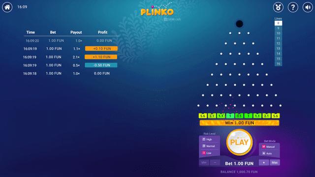 還元率が高いスロット【Plinko】