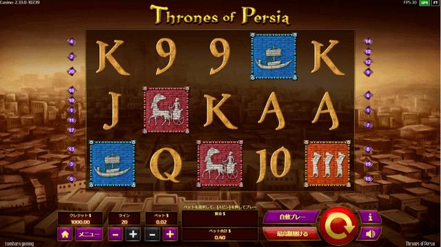 還元率が高いスロット【Throne of Persia】