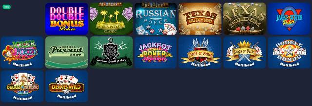 ポーカーがプレイできるオンラインカジノ【ベットティルト】のポーカー一覧