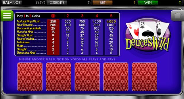 ポーカーができるオンラインカジノ【コニベット】の『デュースワイルドビデオポーカー』