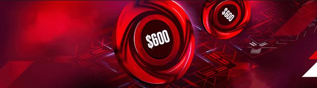 ポーカースターズの最大600ドル100%初回入金ボーナス