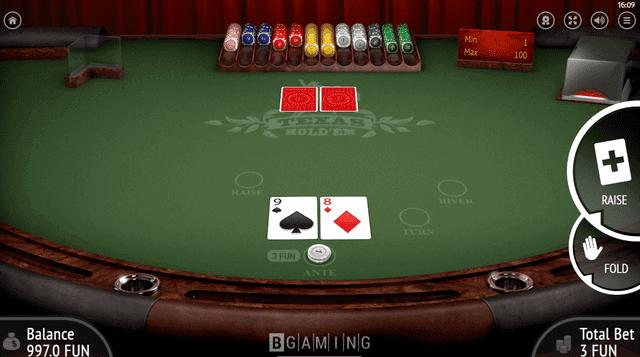 ビットスターズが採用しているBGamingの『Texas Hold'em』
