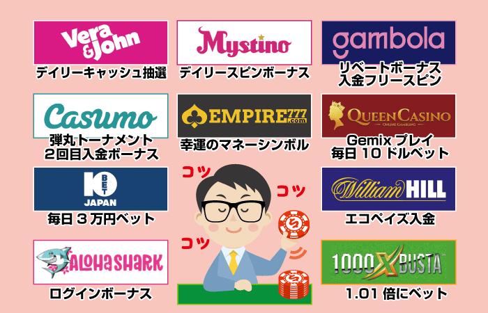 オンラインカジノでコツコツ勝てる方法