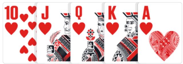 ポーカーの役【ロイヤルフラッシュ】