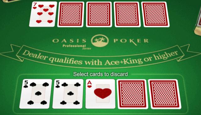 オンラインカジノでプレイできるおすすめのポーカー【オアシスポーカー】