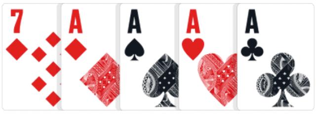 ポーカーの役【フォーカード】