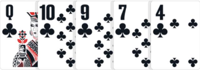 ポーカーの役【フラッシュ】