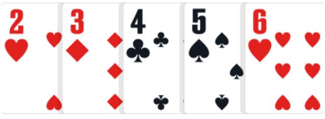 ポーカーの役【ストレート】