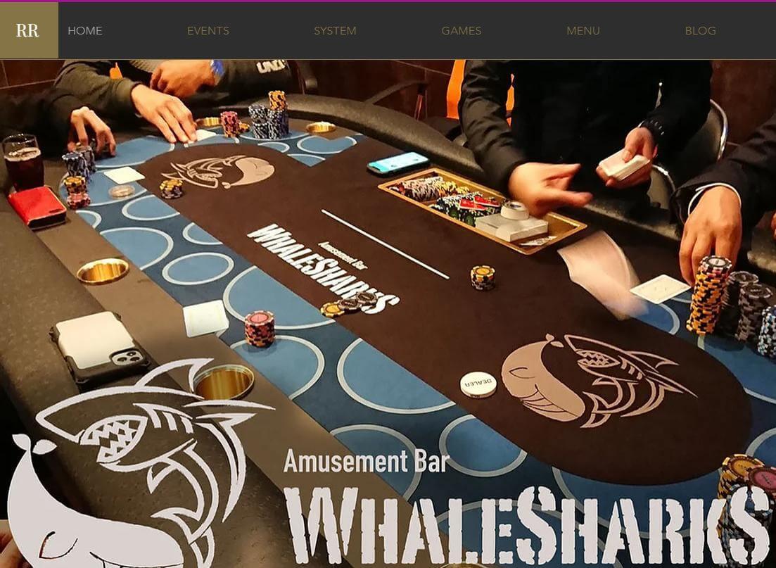 山梨で人気のカジノバーのWHALE SHARKS甲府