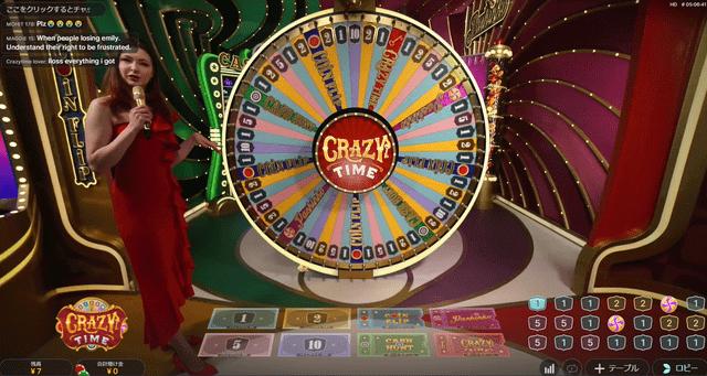 入金不要ボーナスでのプレイがおすすめの『クレイジータイム』