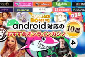 Android対応のおすすめオンラインカジノ【10選】