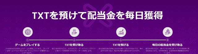 TXTという仮想通貨を新たにマイニングできる