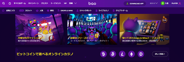 日本円で入出金できるオンラインカジノ【バオカジノ】