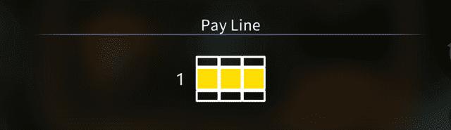 ペイラインがわずかに1ラインしかない
