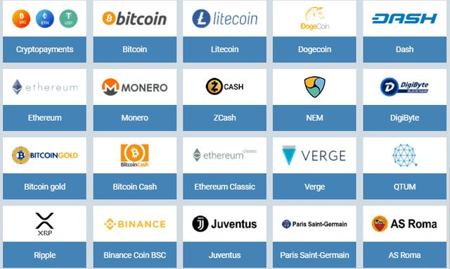 ワンバイベットで利用可能な仮想通貨一覧