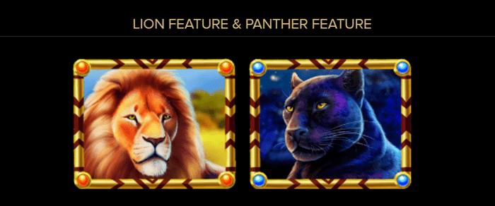 パンサーのシンボルとライオンのシンボル